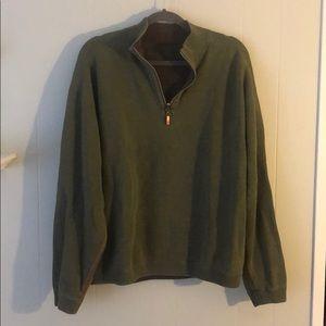 Tommy Bahama Reversible half zip sweater L